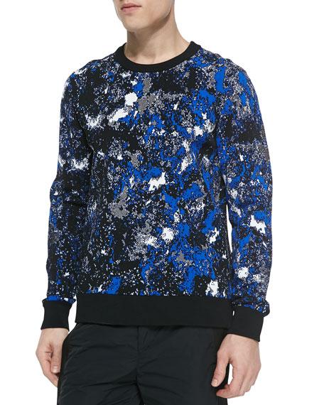 wang tie dye crewneck sweatshirt blue multi