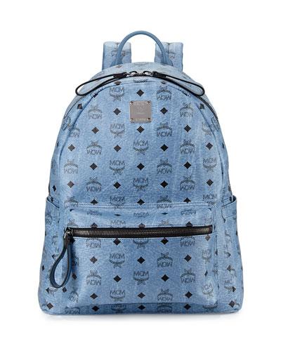 Stark No Stud Medium Backpack, Denim