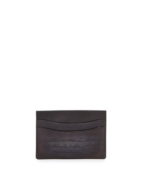 Nero Scritto Card Case, Black