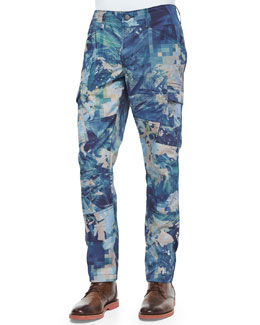 Trooper Digital-Patterned Slim Cargo Pants, Multi