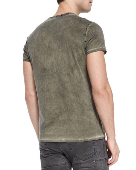 Kingman Studded Crewneck T-Shirt, Green
