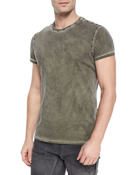 Kingman Studded Crewneck T-Shirt, Green