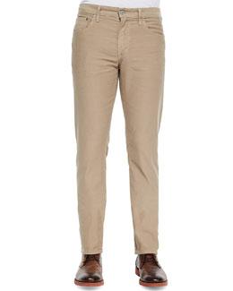 Core Slim Straight Monterey Jeans, Tan
