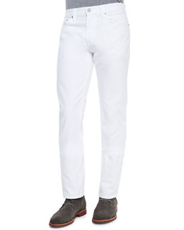 Core Slim Straight Jeans, White