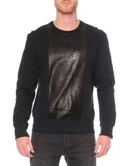 Embossed Python-Print Sweatshirt
