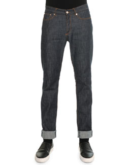 Raw Slim Denim Jeans, Indigo