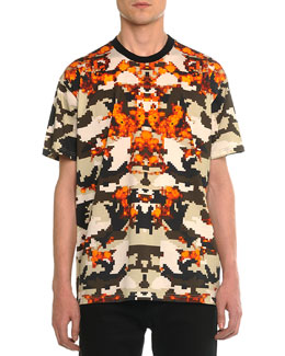 Columbian Camo-Print Tee, Orange