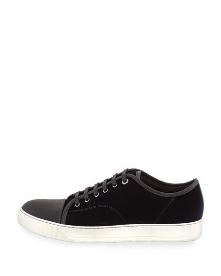 Velvet Captoe Low-Top Shoe
