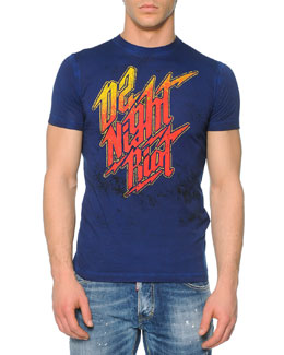 Night Riot Graphic Tee, Navy