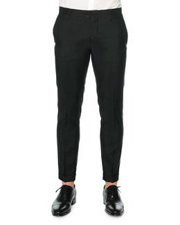 Tokyo-Fit Wool-Blend Pants, Black