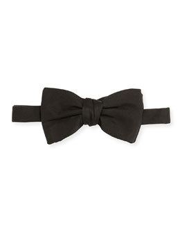 Solid Silk Bow Tie, Black