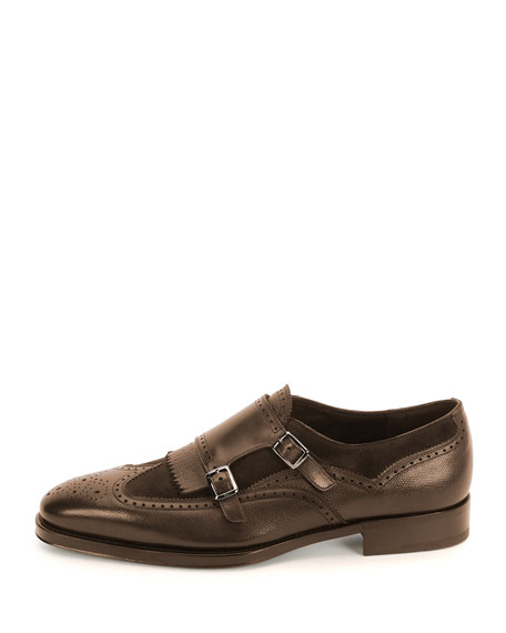 Double-Monk Shoe, Brown