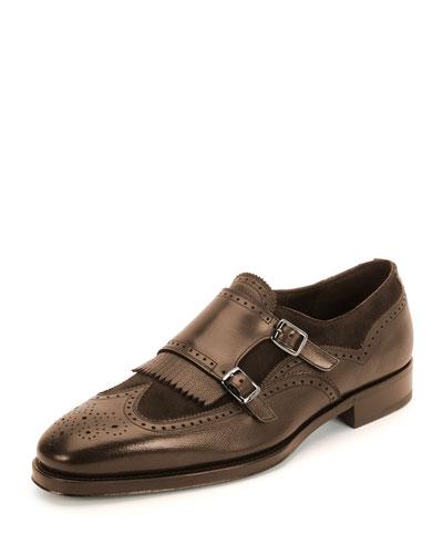 Marlin Double-Monk Shoe, Brown