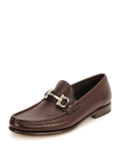 Mason Gancini-Bit Leather Loafer, Brown