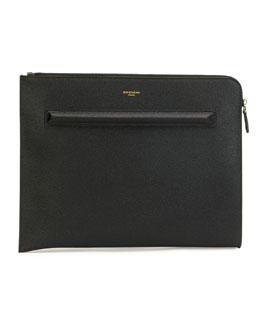 Leather Document Holder, Black