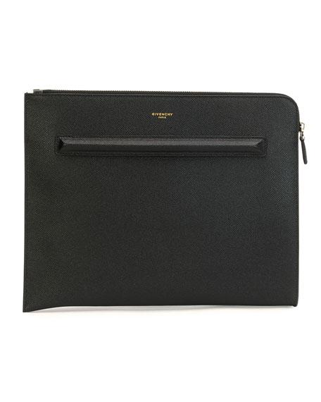 Leather Document Holder, Black