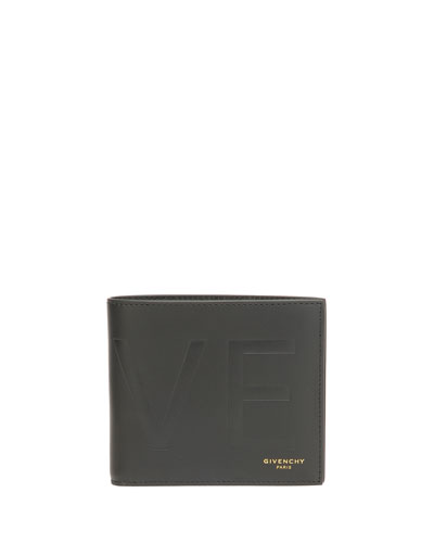Love-Printed Billfold Wallet, Black