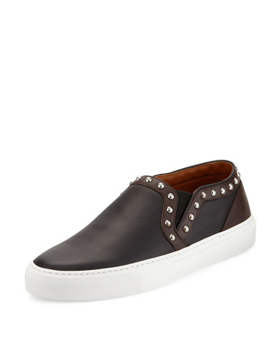 Studded Skate Shoe, Black/Brown
