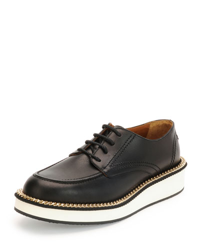 Perig Platform Derby Shoe, Black