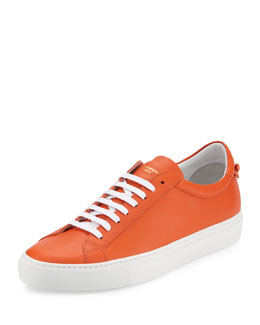 Urban Low-Top Street Sneaker, Orange