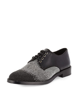 Degrade Studded Lace-Up Shoe, Black/Silver