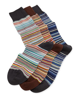 Father's Day Stripe 3-Pack Sock Set