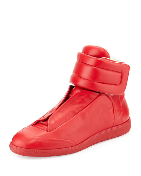 Men's Future High-Top Sneakers, Red