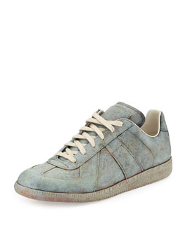 Replica Statue-Treatment Low-Top Sneaker, Green