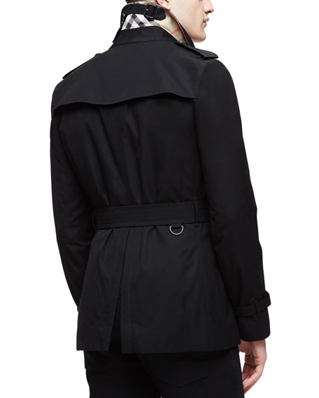 The Sandringham Short Trenchcoat, Black