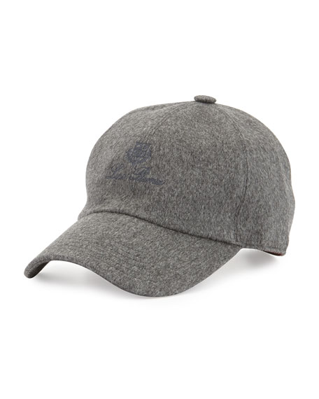 Storm System Cashmere Baseball Hat, Gray