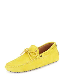 Suede Tie Driver, Yellow