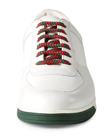 Gucci 1984 Leather Low-Top Sneaker, White