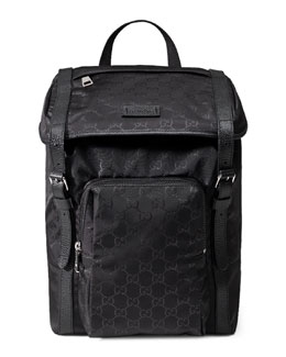 Nylon GG Lightweight Backpack, Black