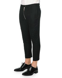 Hockney Zipper Moto Pants, Black