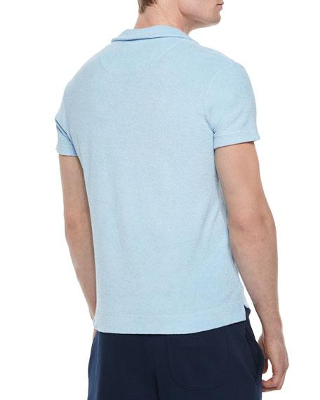Terry Polo Shirt, Sky Blue
