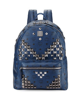 Stark Men's Studded Visetos Backpack, Navy