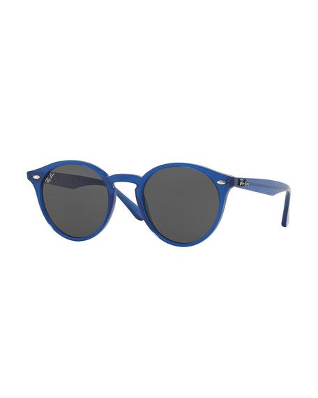 Classic Round Sunglasses, Blue