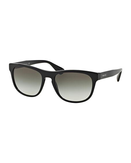 Rectangular Acetate Sunglasses, Black
