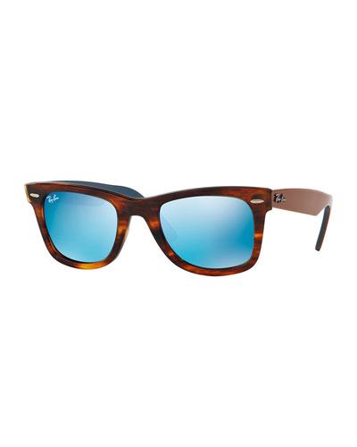 Original Wayfarer Gray Mirror Sunglasses, Havana
