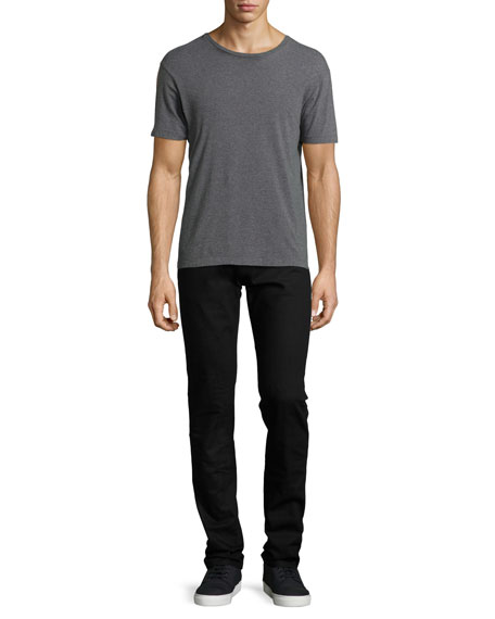 Mick Solid Denim Jeans, Black
