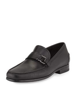 Ponza Calfskin Side Gancio Loafer, Black