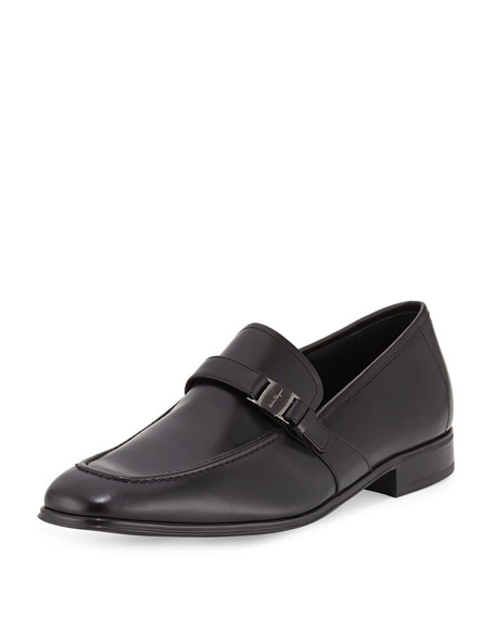 Calfskin Side Vara Loafer, Black