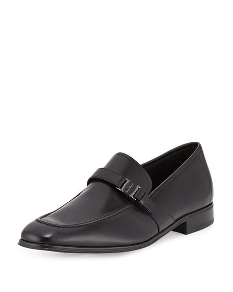 Calfskin Side Vara Loafer, Black
