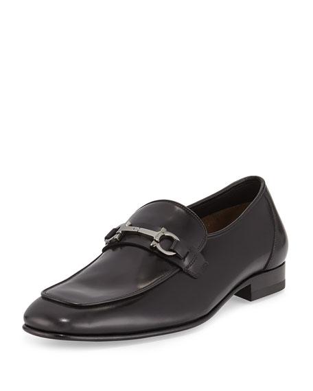 Calfskin Gancini Loafer, Black