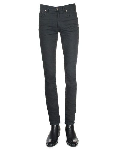 Clean-Wash Denim Jeans, Black