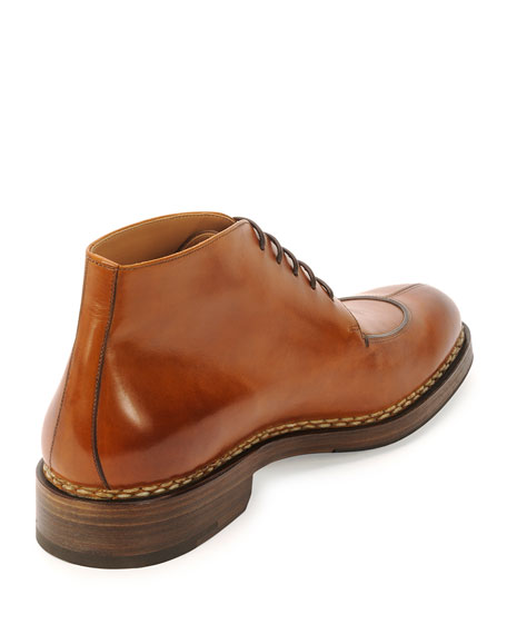 Leather Welt Boot, Light Brown