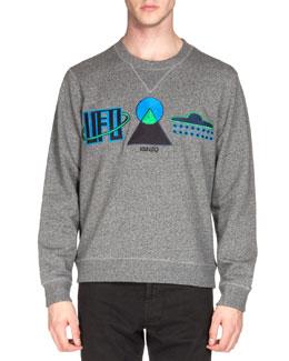 UFO Symbol Sweatshirt, Gray