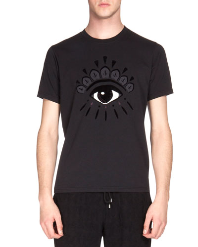 Eye-Print Icon Tee, Black
