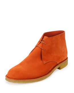 Suede Desert Boot, Orange