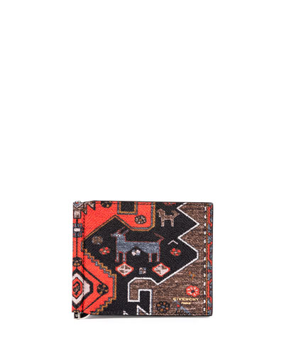 Persian Rug-Print Money Clip Wallet